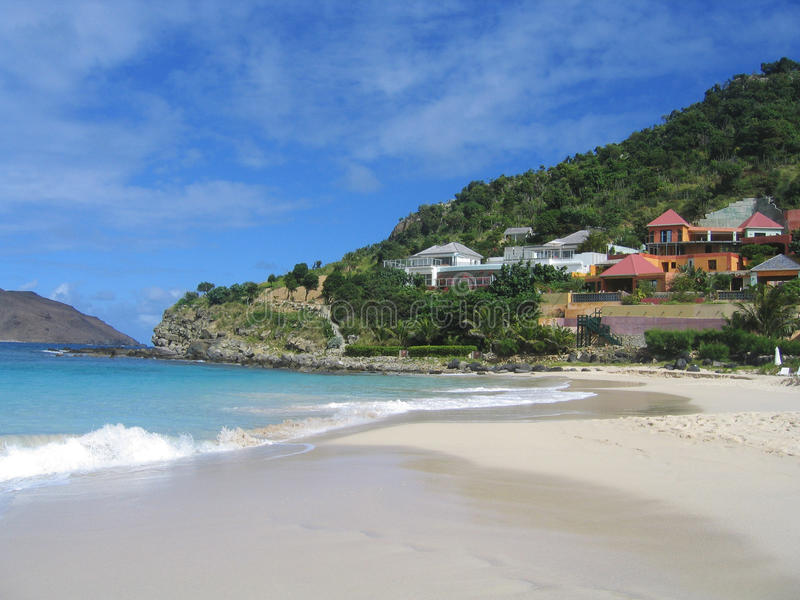 Plage de Flamands, St Barts, Antilles françaises image stock