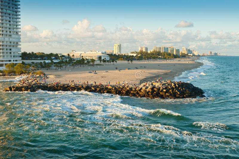 Plage de Fort Lauderdale photographie stock libre de droits