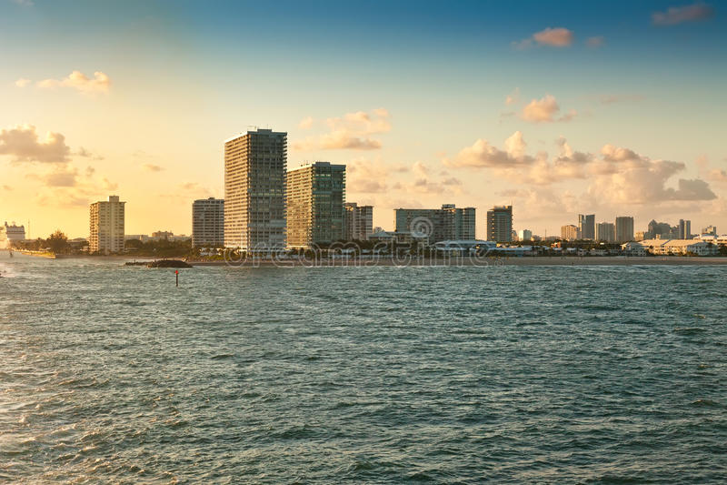 Plage de Fort Lauderdale, la Floride image stock