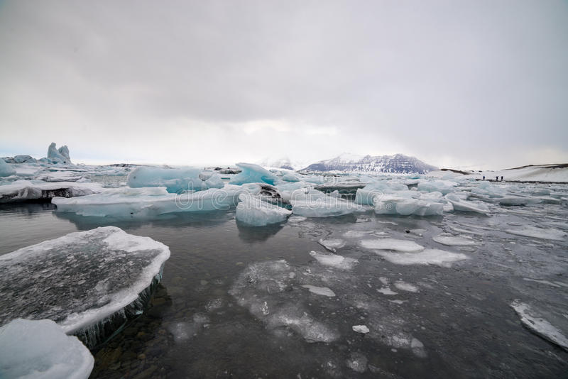 Plage de glace, Islande, couleur bleue image libre de droits