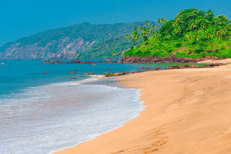 Plage de Goa image libre de droits