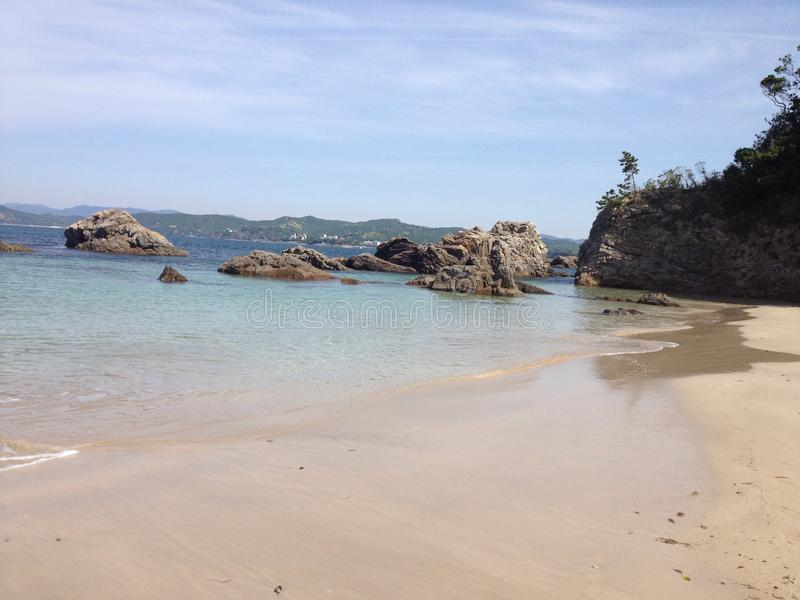 Plage de Goza photo stock