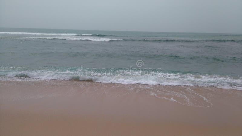 plage de hikkaduwa photo stock