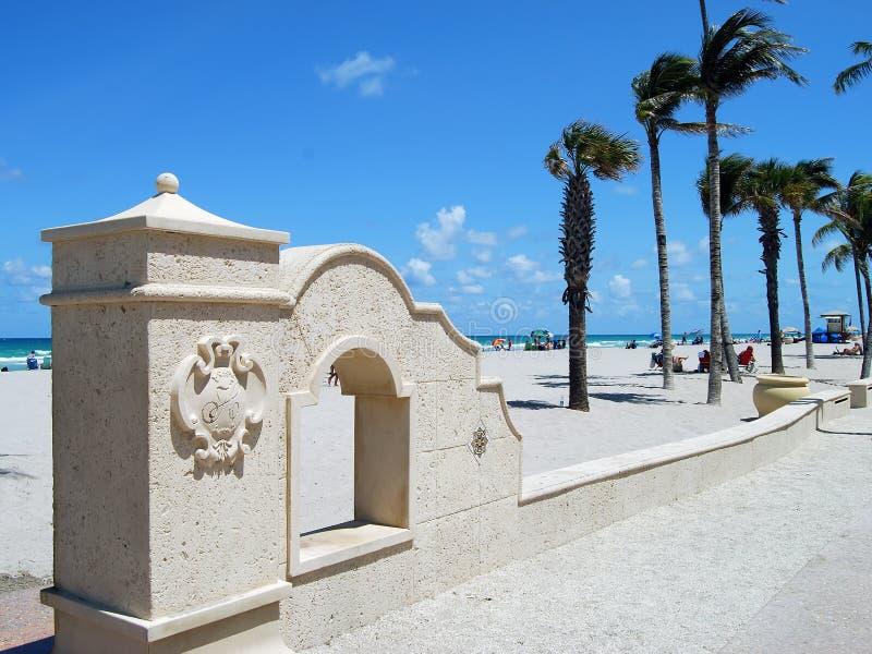 Plage de Hollywood.Florida image stock