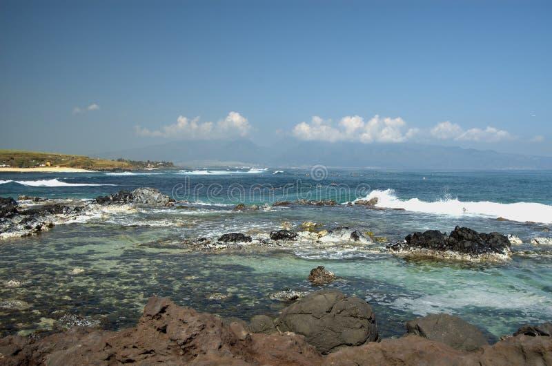 Plage de Hoopika, Maui photos stock