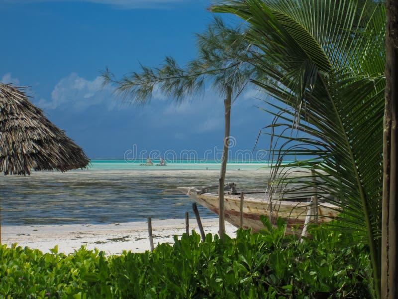 Plage de Jambiani à Zanzibar, Tanzanie photos stock