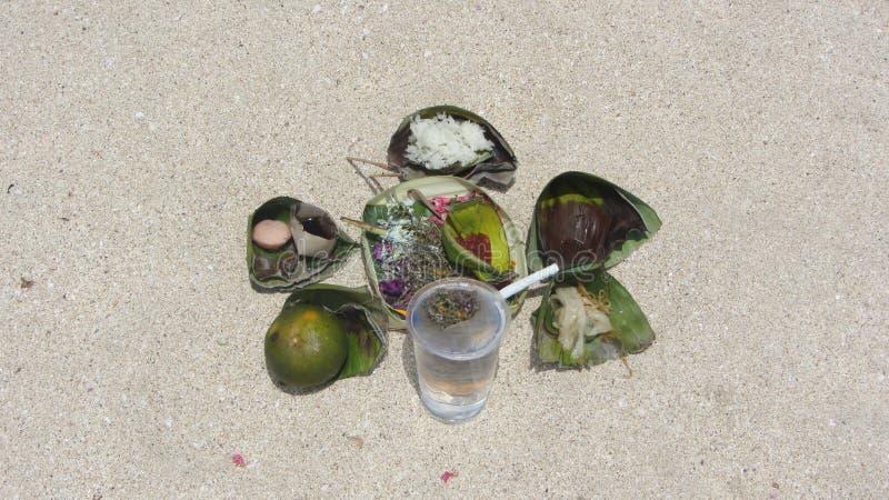 Plage de Jimbaran, île de Bali, indonésienne image libre de droits