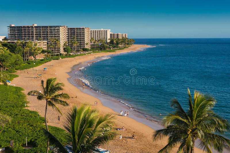 Plage de Kaanapali photo stock
