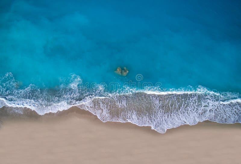 Plage de Kathisma en île Grèce de Leucade image stock