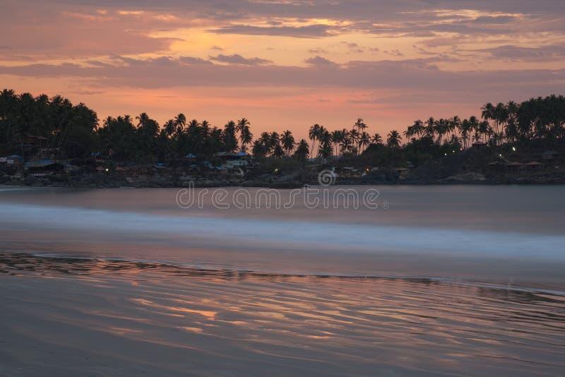 Plage de l'Inde - du Goa - du Palolem image stock
