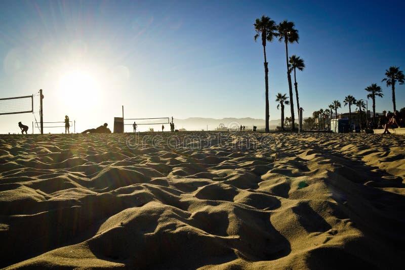 Plage de la Californie Etats-Unis de volleyball Venise de Los Angeles image stock