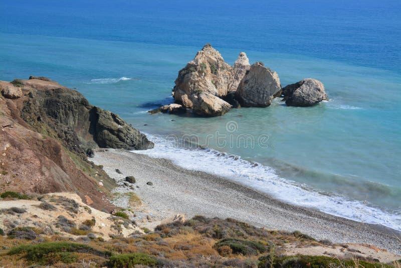 Download Plage de la Chypre photo stock. Image du roches, cyprus - 56475800