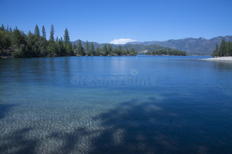 Plage de lac Whiskeytown photo stock