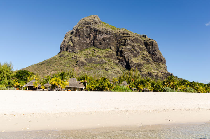 Plage de Le Morne en Îles Maurice photographie stock libre de droits