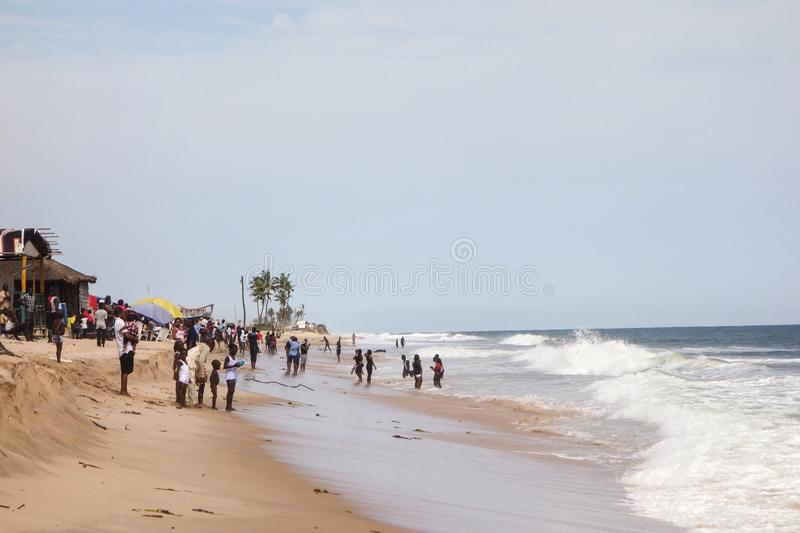 Plage de Lekki à Lagos photos stock