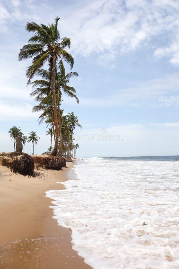 Plage de Lekki à Lagos image stock