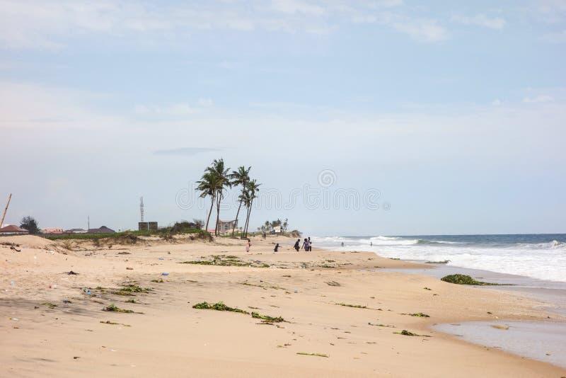 Plage de Lekki à Lagos photographie stock