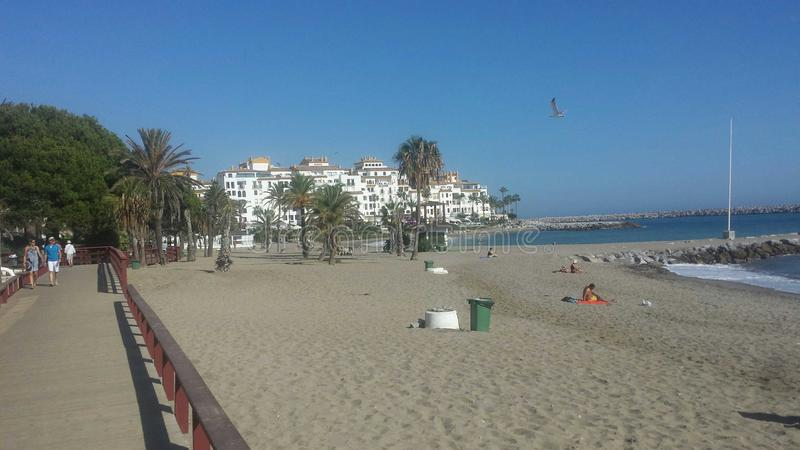 Plage de Malaga image libre de droits