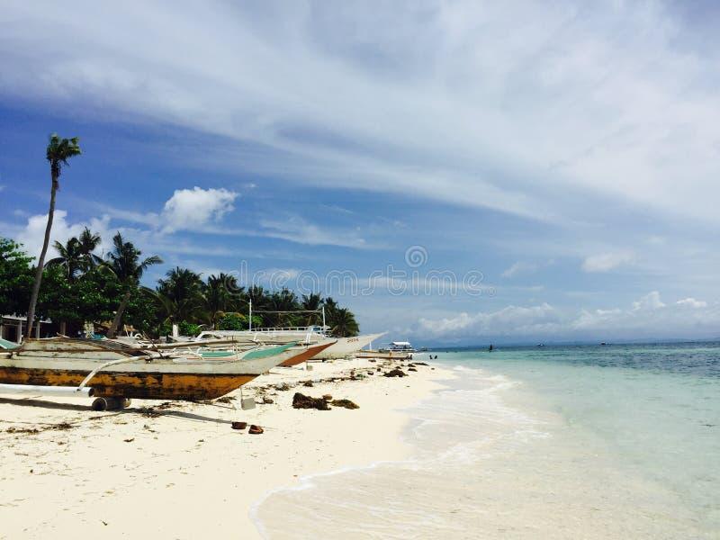 Plage de Malapascua photos stock