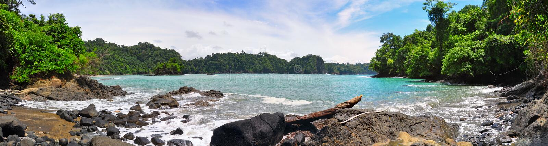 Plage de Manuel Antonio, Costa Rica images libres de droits