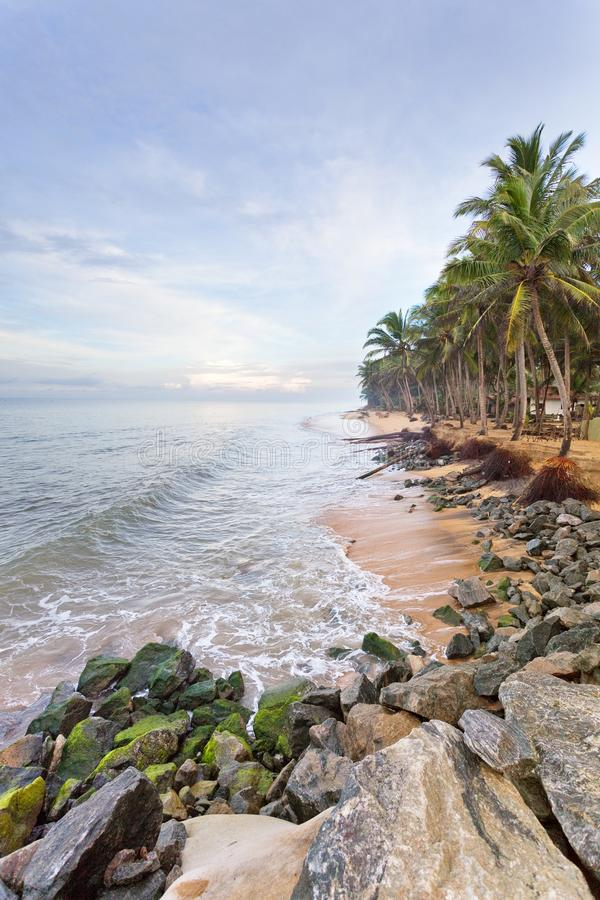 Plage de Marawila, Sri Lanka photographie stock libre de droits