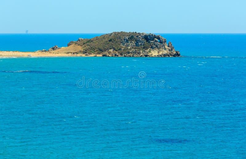 Plage de mer près de Rocca di San Nicola, Agrigente, Sicile, Italie images libres de droits
