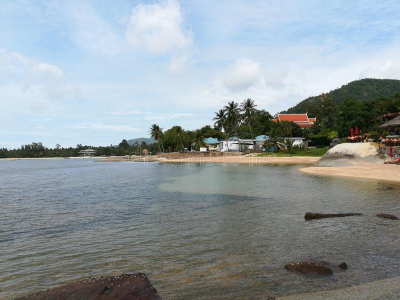 Plage de mer sur le samui de KOH photos stock