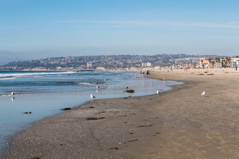 Plage de mission à San Diego, la Californie photographie stock
