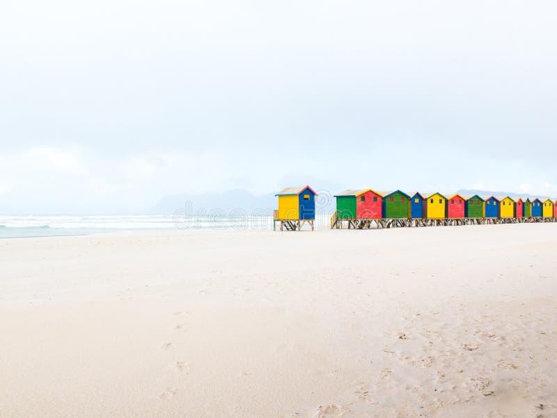 Plage de Muizenberg, Cape Town, Afrique du Sud photographie stock libre de droits