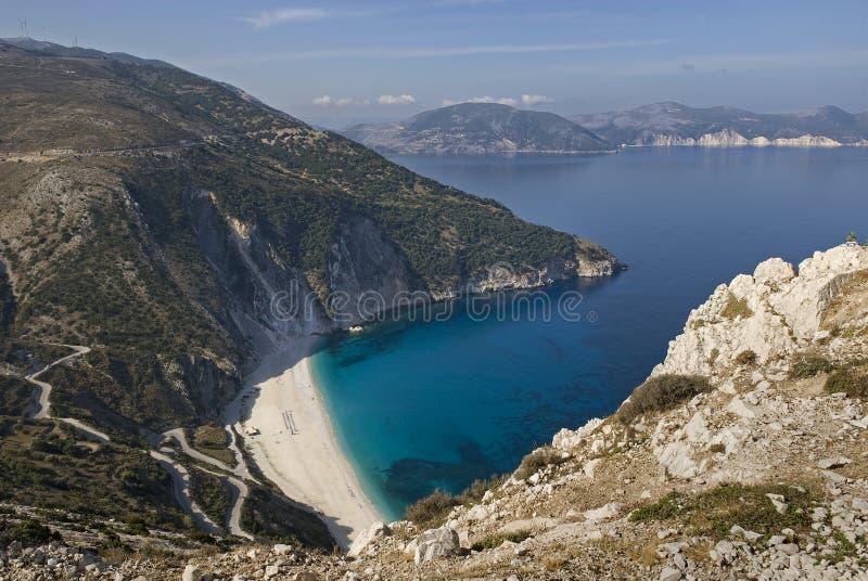 Plage de Myrtos, Kefalonia image stock