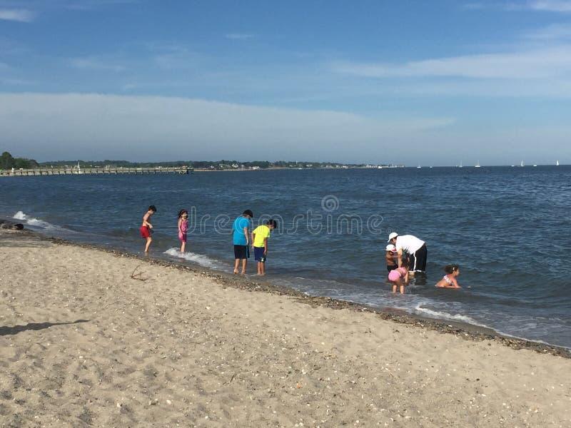 Plage de noix dans Milford, le Connecticut photos stock