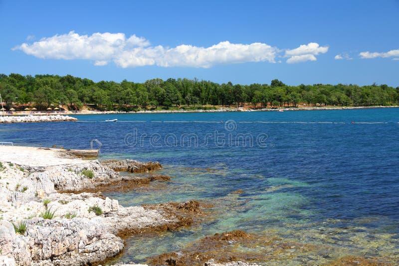 Côte de la Croatie photos libres de droits
