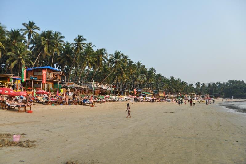 Plage de Palolem dans Goa photo libre de droits