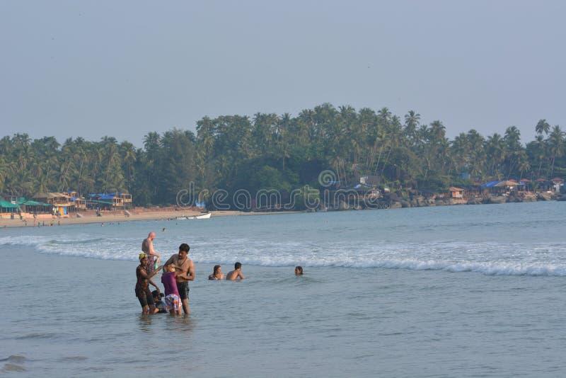 Plage de Palolem dans Goa photographie stock