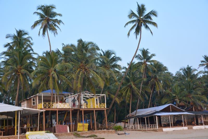 Plage de Palolem dans Goa image libre de droits