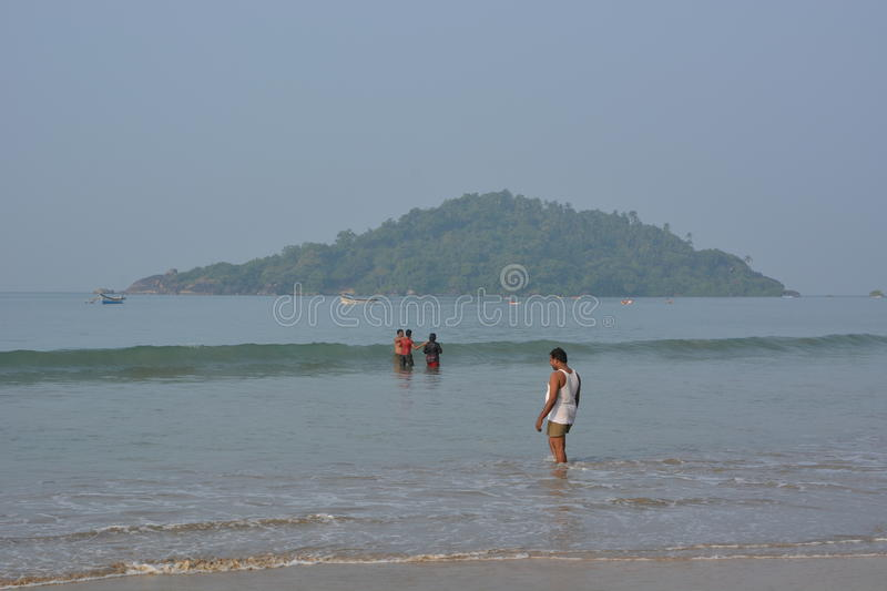 Plage de Palolem dans Goa photo stock