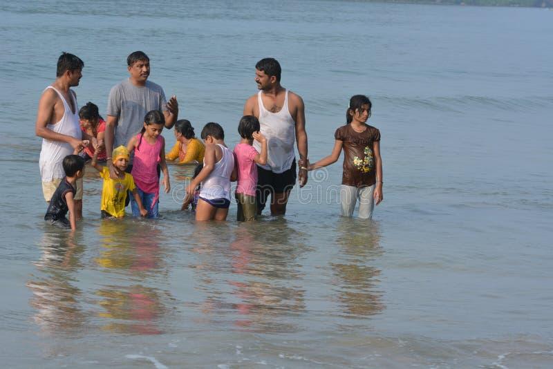 Plage de Palolem dans Goa image stock