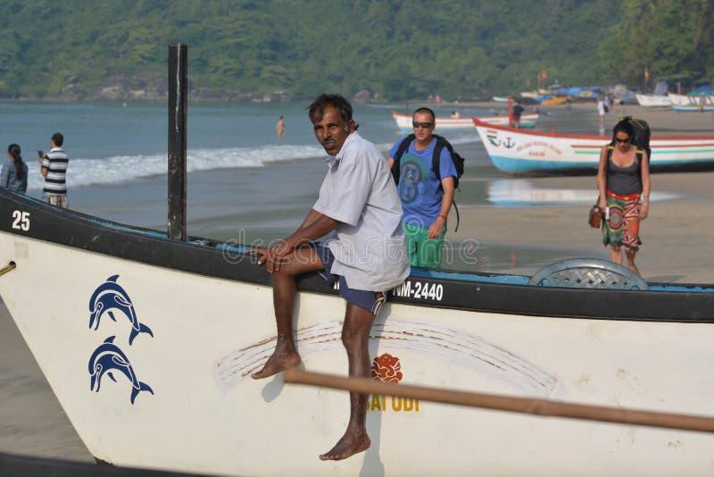 Plage de Palolem dans Goa photos libres de droits
