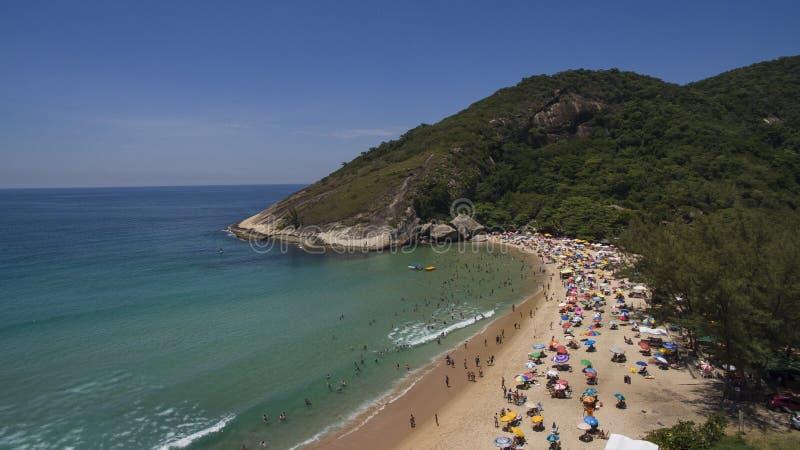Plage de paradis, belle plage, plages merveilleuses autour du monde, plage de Grumari, Rio de Janeiro, Brésil, Amérique du Sud Br photographie stock