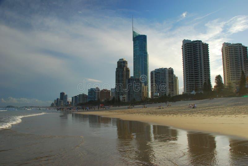 Plage de paradis de surfers La Gold Coast, Queensland, Australie image stock