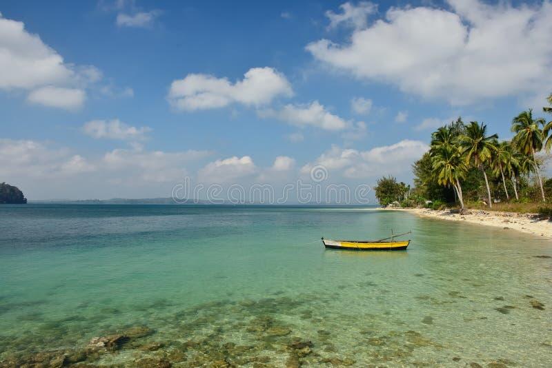Plage de Paradise à l'île d'Andaman et de Nicobar, Inde image stock
