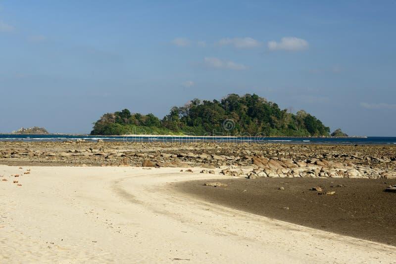 Plage de Paradise à l'île d'Andaman et de Nicobar, Inde photo stock