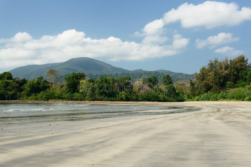 Plage de Paradise à l'île d'Andaman et de Nicobar, Inde photographie stock