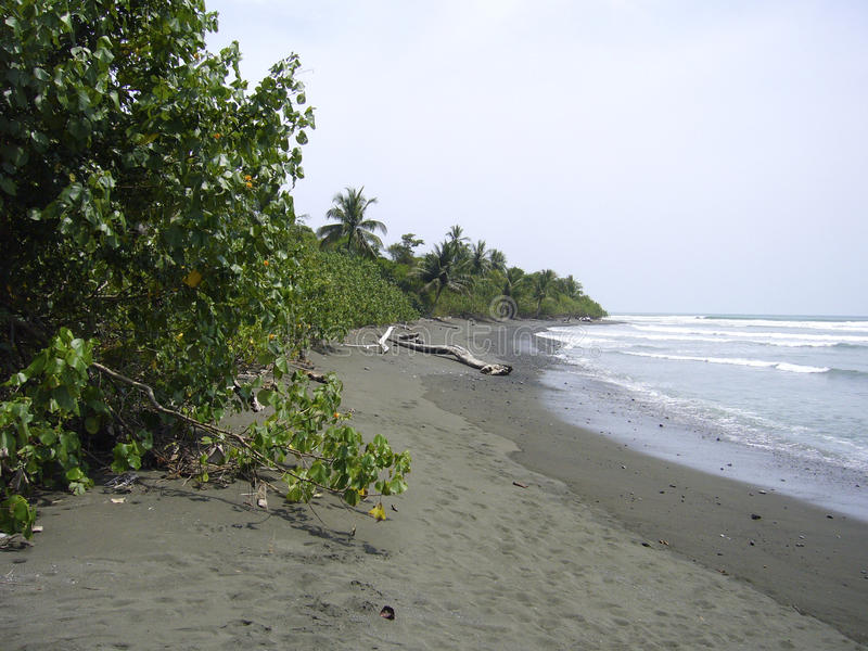 Plage de parc national de Corcovado images libres de droits
