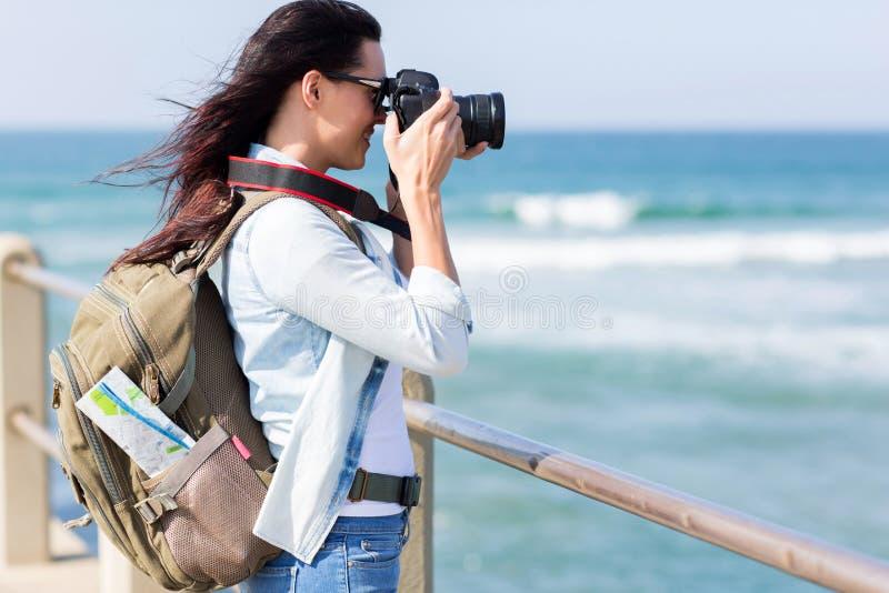 plage de photographie de touristes images libres de droits