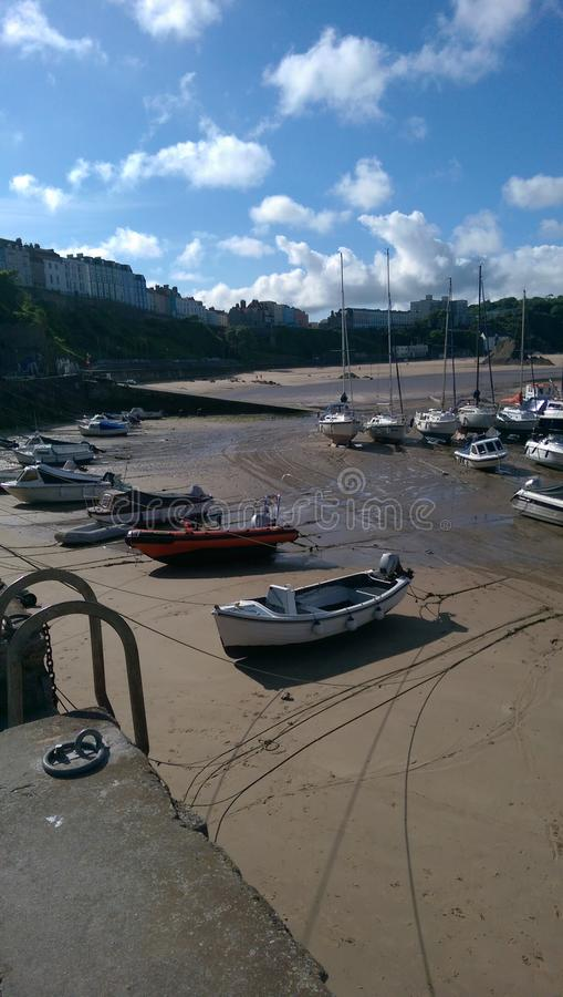 Plage de port du Pays de Galles images stock