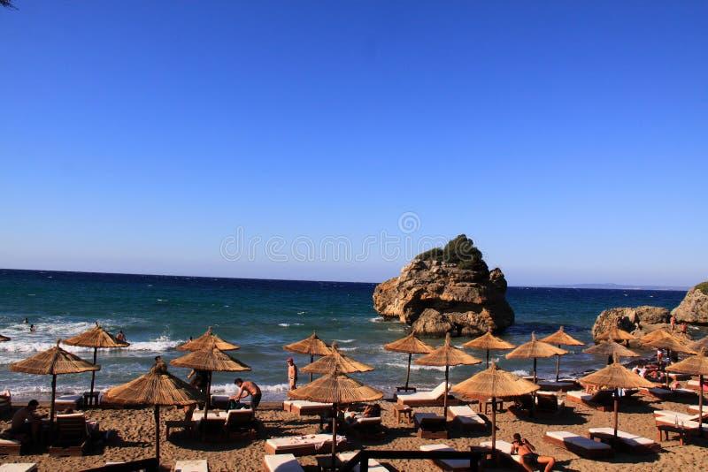 Plage de Porto Zorro sur l'île de Zakynthos, Grèce photo libre de droits
