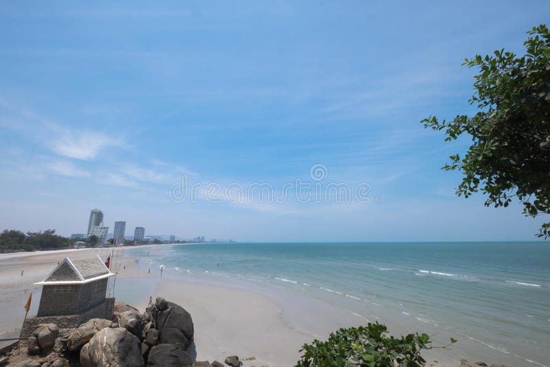 Plage de Prachuap Khiri Khan photographie stock libre de droits