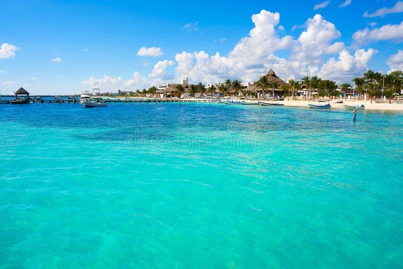 Plage de Puerto Morelos en Riviera maya photo libre de droits