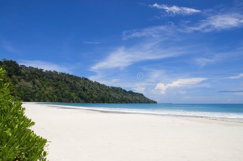 Plage de Radhanagar des îles d'île, de Port Blair, d'Andaman et de Nicobar de Havelock photo stock